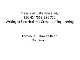 cleveland state university esc 720 research communications ppt