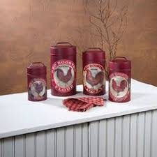 rooster kitchen canisters vintage red rooster brand canisters red rooster and kitchen canisters