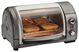Best Small Toaster Hamilton Beach Easy Reach 4 Slice Toaster Oven Silver 31334 Best Buy