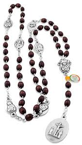 seven sorrows rosary rosary of the seven sorrows with wood from italy
