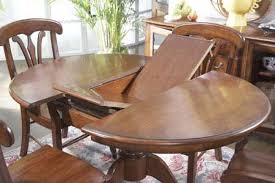 circle table that gets bigger astounding butterfly dining room table tall round at leaves