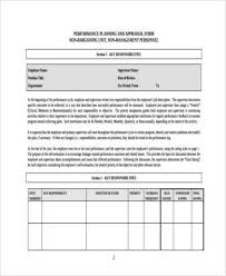 sample executive performance appraisal form 8 free documents in