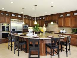 Large Kitchen Islands With Seating Large Kitchen Island With Wooden Cabinet And Seating