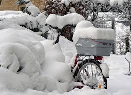 Gambar musim dingin sepeda cuaca badai salju Stralsund