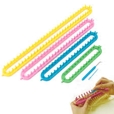 quality knitting tool set diy scarf maker weave loom kit shawl