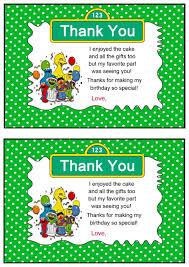 sesame street thank you cards u2013 birthday printable