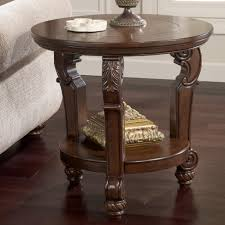 signature design by ashley san martin traditional round end table