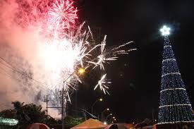 christmas tree lit up at rahaman u0027s park u2013 stabroek news