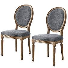 shiraz linen oval back dining chairs set of 2 bed bath u0026 beyond
