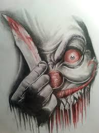 evil clown by jeee001 on deviantart