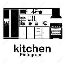 pictogramme cuisine cuisine fond blanc myfrdesign co
