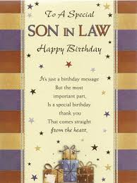 son in law birthday card facebook birthday cards greetings for son