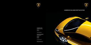 Lamborghini Gallardo Old - lamborghini gallardo 2009 brochure
