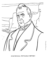 free printable coloring pages of us presidents free printable president james buchanan coloring pages presidents