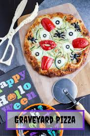 halloween graveyard pizza
