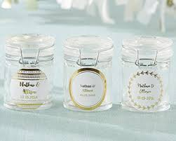 wedding favor jars personalized gold foil glass favor jars set of 12 my wedding