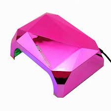 low price 36w nail dryer red diamond shape led uv ccfl light gel