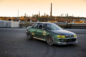 subaru gc8 v8 swapped rwd subaru impreza gc8 super street featured i club