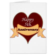 happy 5th wedding anniversary greeting cards zazzle au