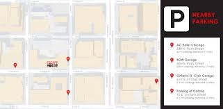Chicago Street Parking Map by Escape House Location River North Escapehouse Chicago