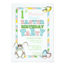 bunny themed party invitations u0026 announcements zazzle co uk