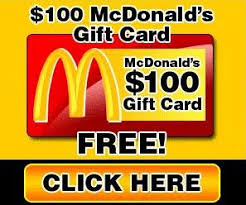 gift card free alert free 100 mcdonalds gift card and voucher