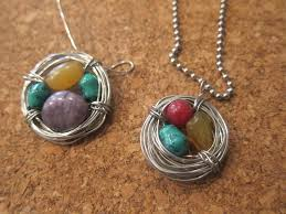 diy picture necklace images Diy birthstone bird nest necklace perfect for mother 39 s day jpg
