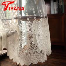 European Lace Curtains Tiyana European Lace Curtain Sheer Curtain Panels Kitchen Beige