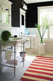 bathrooms renovation ideas bathroom renovation ideas with black wall paint and striped mat