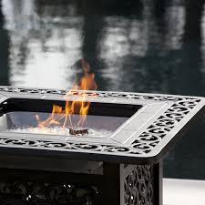 sanremo 32 inch propane gas fire pit table by fire sense antique