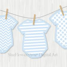 blue baby shower decorations banner wishes for baby boy cut
