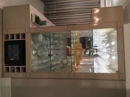 Super Cristaleira Embutida de Vidro, Espelho e Laca #AP46