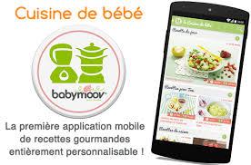 application recettes de cuisine la nouvelle application mobile la cuisine de bébé cuisine de