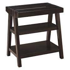 ashley furniture corner table chanceen home office corner table in dark brown by ashley furniture