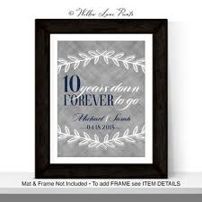 10 year anniversary gifts for men five year anniversary gift for or for from willowlaneprints