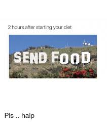 send food 2 hours after starting your diet send food pls halp dieting meme