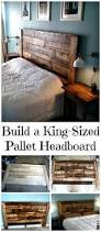 Wood Pallet Headboard I Stumbled Across This Awesome Diy Bed Headboard Made From Old