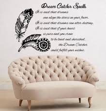 popular feather wall sticker quotes bedroom buy cheap feather wall feather quotes wall vinyl stickers dream catcher spell everyone can have a dream bedroom wall