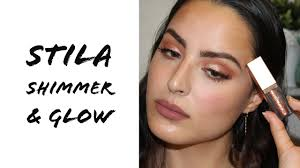 and glow stila shimmer and glow liquid eye shadow review tutorial