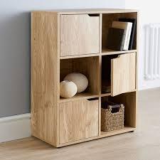 top home solutions oak finish 6 cube 3 door shelf books cds