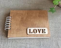 wood photo album wooden photo album etsy