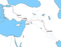 baghdad world map baghdad railway