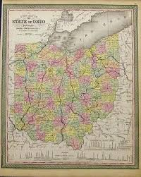 Map Of Ohio State by Prints Old U0026 Rare Ohio Page