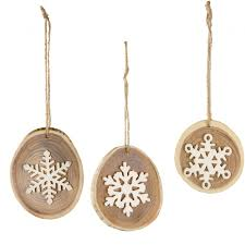 3 pagoda disc ornament with snowflake set of 3 xy8279