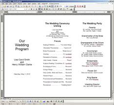 word template for wedding program free printable wedding programs templates the template is
