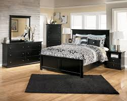 Bedroom Furniture Black Masculine Bedroom Design Wooden Framed Bed Green Curtain White