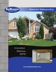 safeedge waterproofing system basement drainage safebasements
