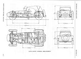Car Plan View Lotus And Caterham Seven Nimble Cars