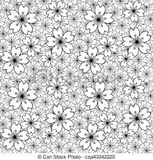 japanese pattern black and white seamless background image of black white japanese sakura vector