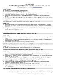 Biotech Resume Sample by Oil And Gas Resume Examples Sap Logistics Execution Consultant Cv